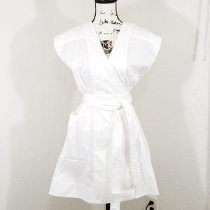 NEW Kendall & Kylie White Cap Wrap Dress size XS